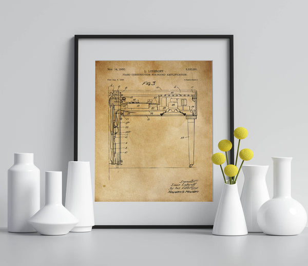 Piano Sound Amplification Poster
