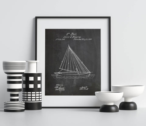 Sails and Rigging Poster