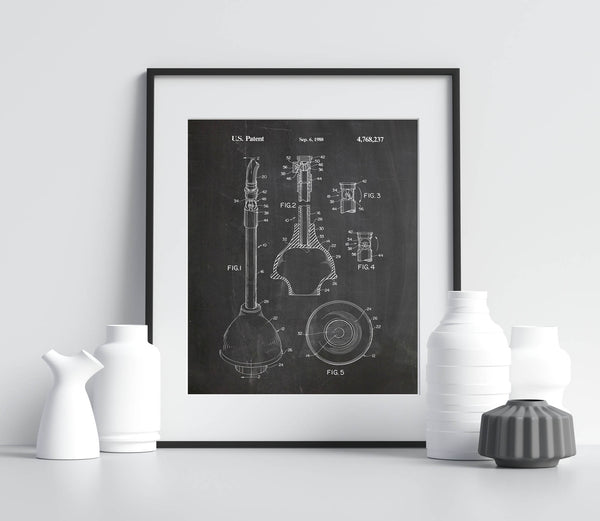 Toilet Plunger Patent 1988