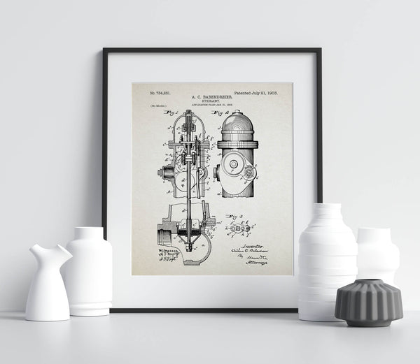 Hydrant 1903 Patent ( firefighter)