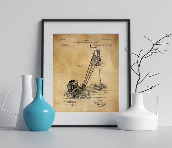 Electric Mining Drill Patent