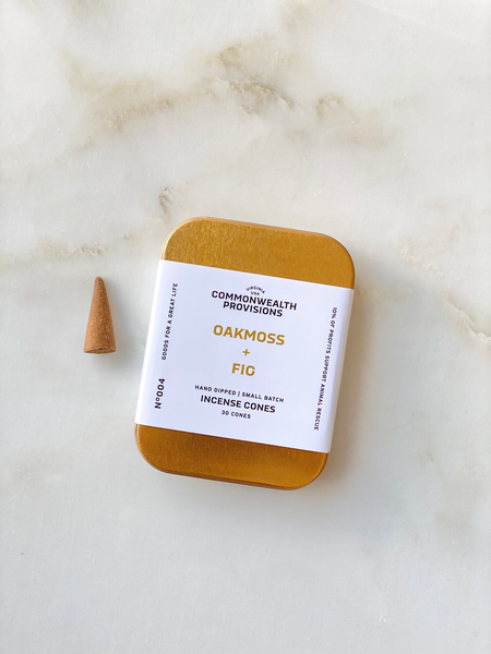 Commonwealth Provisions - Oakmoss + Fig Incense Cones