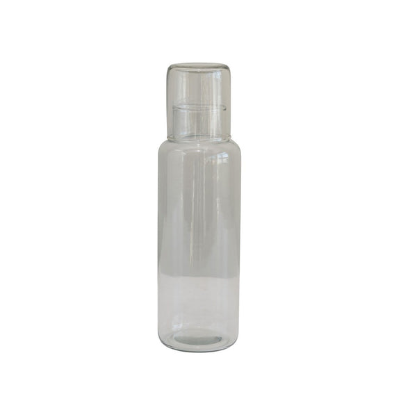 32oz Recycled Glass Decanter with Cup