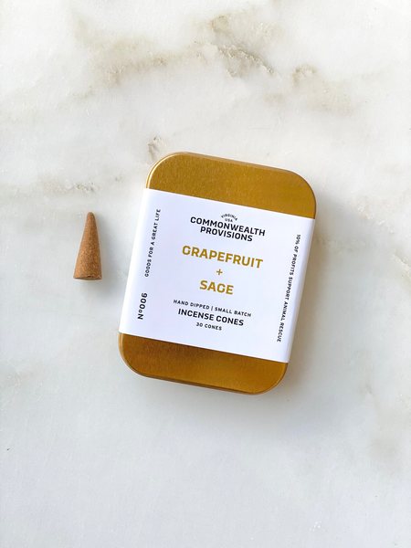 Commonwealth Provisions - Grapefruit + Sage Incense Cones