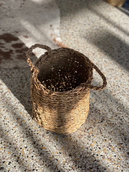 Natural Basket with Handles - SMALL (LOCAL PICKUP ONLY)