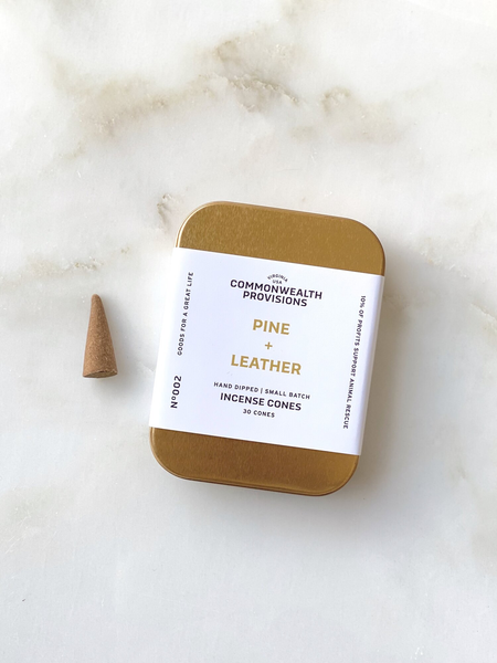 Commonwealth Provisions - Pine + Leather Incense Cones
