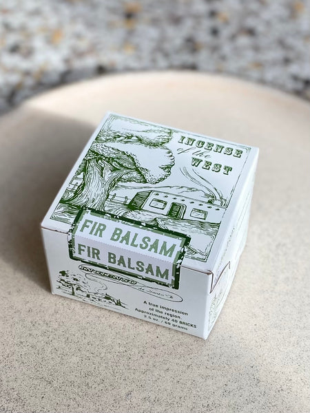 Incense of the West - Fir Balsam Incense Bricks