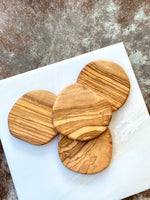 Olive Wood Coaster Set of 4