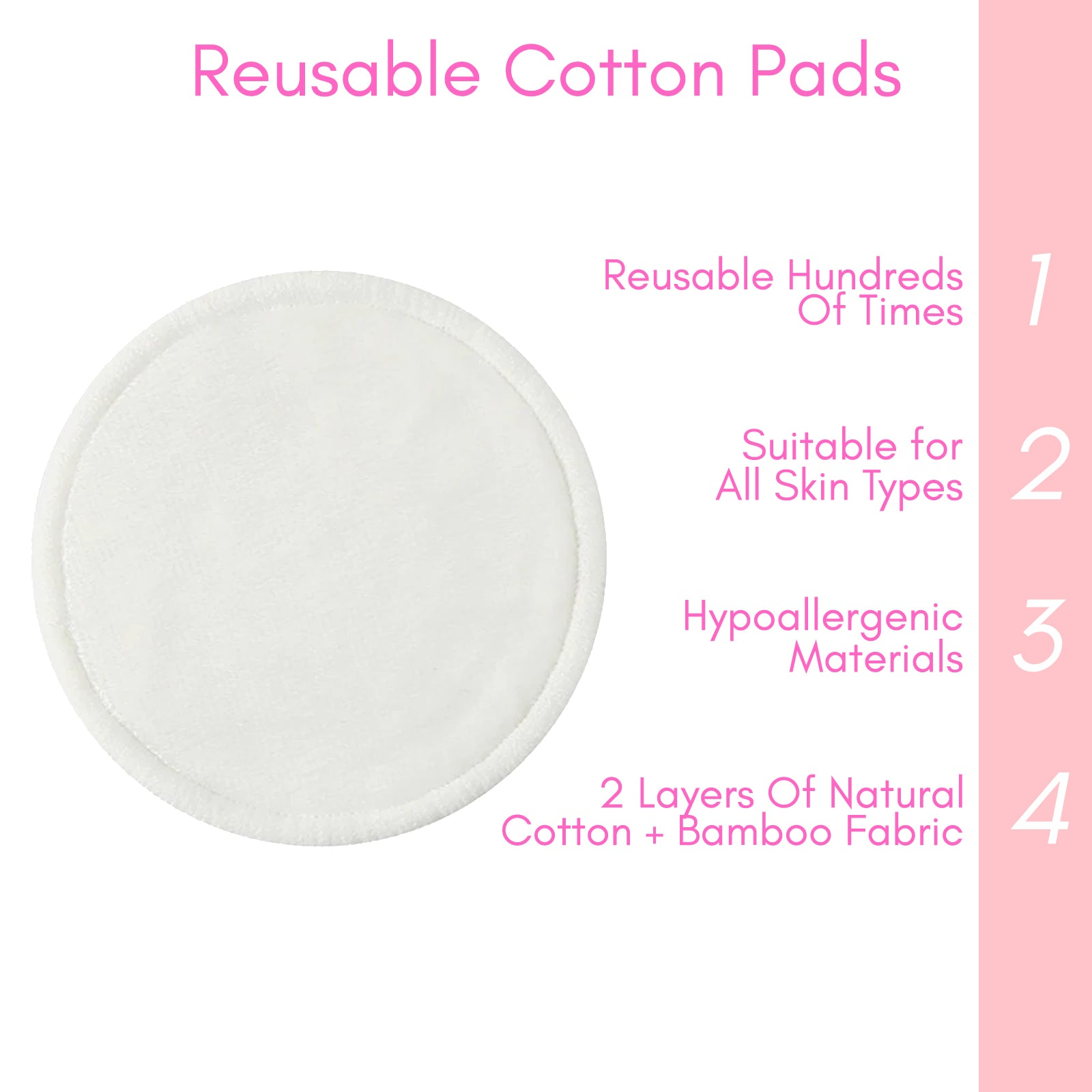 10x Bamboo Make Up Removal Pads