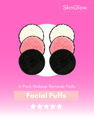 6 Pack Make Up Remover Puffs