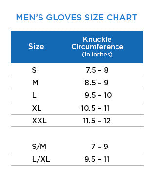 Men's Gloves Size Chart