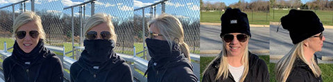 3 ways of wearing Multifunctional Neck Warmer