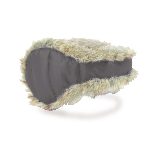 Down Fur Ear Warmer Women Frost Gray