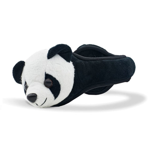 Panda Ear Warmer Youth Black and White