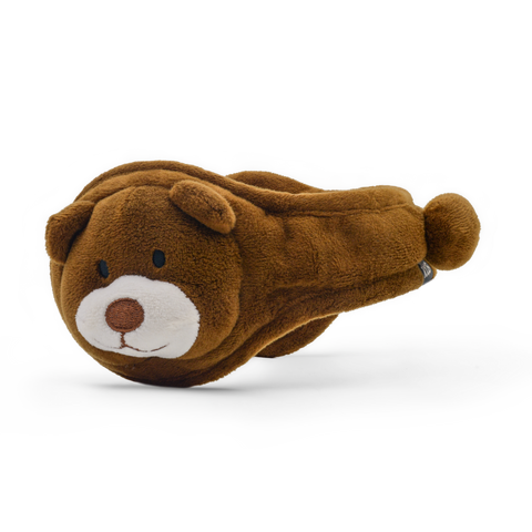 Teddy Plush Ear Warmer Youth Spice Brown