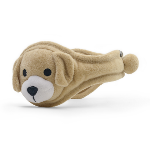 Puppy Plush Ear Warmer Youth Semolina