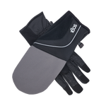 Convertible Running Gloves Black/Charcoal Gray