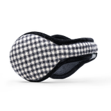 American Wool Ear Warmer Women Mini Buffalo Check Black & White