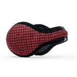 American Wool Ear Warmer Women Mini Buffalo Check Red & Black