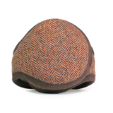 Wool Ear Warmer Men Brown Herringbone