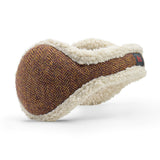 Wool Ear Warmer Women Brown Herringbone