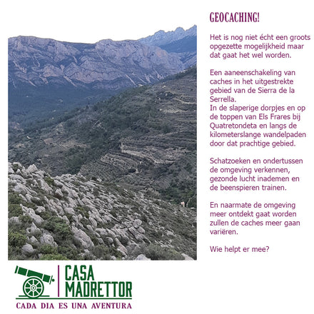Geocaching in de Vall de Seta