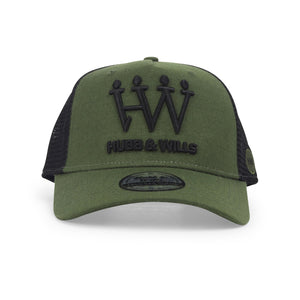 Hubb and Wills Army Green Trucker Hat