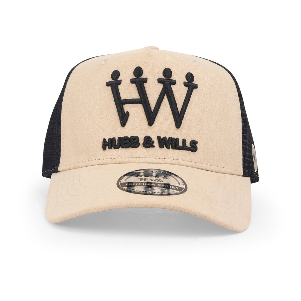 Hubb and Wills Nude/Suede Trucker Hat