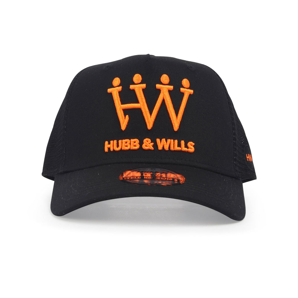 Black and Orange Trucker Hat