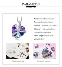 Load image into Gallery viewer, FOREVER Love Crystal Heart Necklace