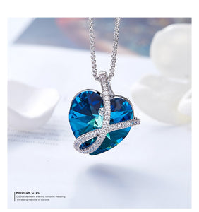 FOREVER Love Crystal Heart Necklace