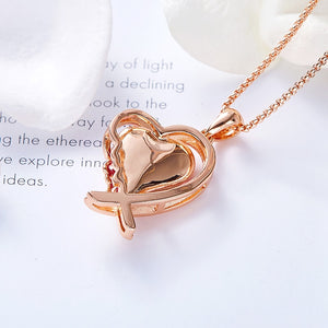 Gold Heart Crystals Necklace