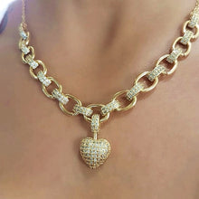 Load image into Gallery viewer, Shining  Heart Pendant Jewelry Set