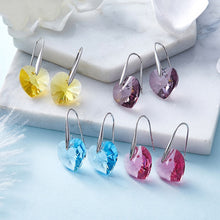 Load image into Gallery viewer, Hearts Crystals Earrings