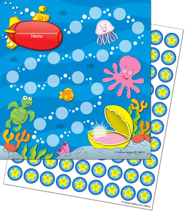 Sea Life - Mini Incentive Pad with Stickers