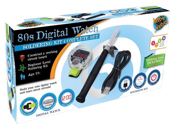 DIY 80s Digital Watch Kit with Soldering Iron