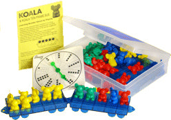 Koala Counters with Buses Game Box