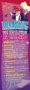 Reading is Magic - Bookmarks