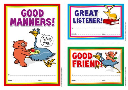 Early Years Manners - Certificates