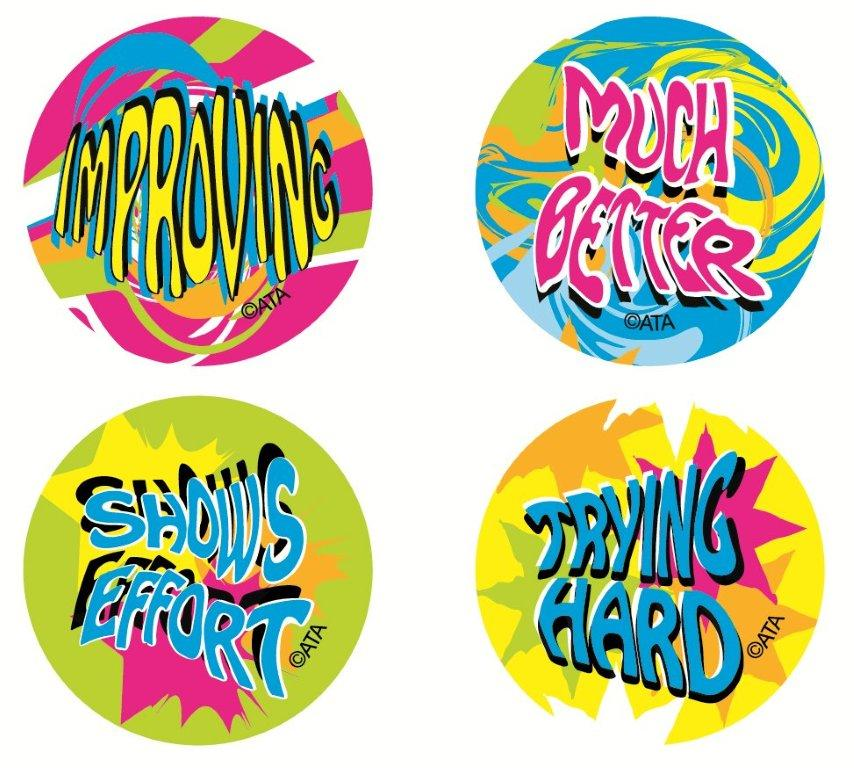 Encouragement - Fluoro Stickers