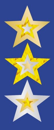 Gold Stars - Foil Stickers