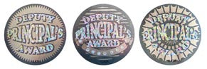 Deputy Principal Award Silver - Large Foil Stickers