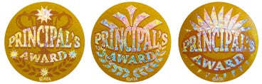 Principal Award Gold - Large Foil Stickers
