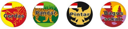 Indonesian Language - Merit Stickers