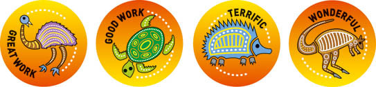 Aboriginal - Merit Stickers