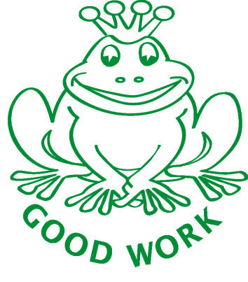 Good Work Frog - Merit Stamp