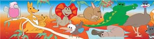 Aussie Wildlife - Large Self Adhesive Repositional Border