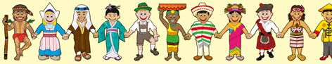 International Kids in Costume - Large Self Adhesive Repositional Border