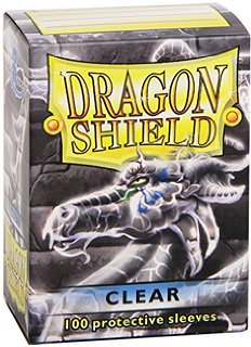 100 Card Sleeves - Dragon Shield Clear Standard