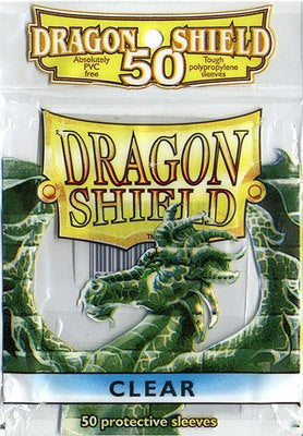 50 Card Sleeves - Dragon Shield Clear Standard